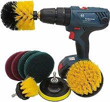 POUAOK Drill Brush Attachments Set 8pc Drill