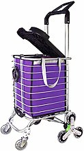 POUAOK Large-capacity shopping cart with wheels,