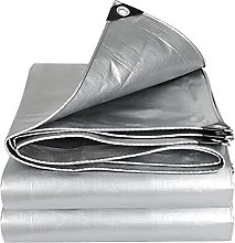 POUAOK Tarpaulin,Silvery Rainproof Cloth Outdoor