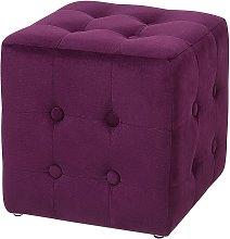 Pouffe Dark Purple WISCONSIN