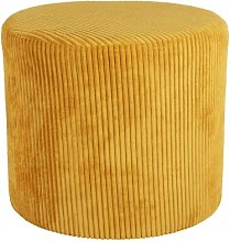 Pouffe Leitmotiv Upholstery Colour: Curry Yellow