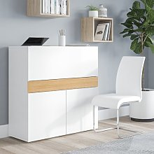 Poul Secretary Desk Fjørde & Co Colour: White/Oak