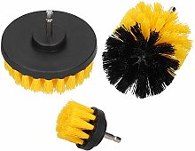 Power Scrubber Cleaning Kit, Durable Yellow Nylon