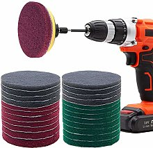Power Scrubber Pads Kit Drill Attachment, GOH DODD