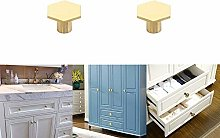 POWERTOOL Brass Drawer Furniture Knobs,2pcs Modern