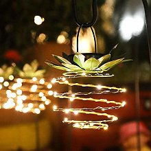 Powzz ornament led copper wire string lights solar