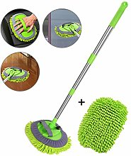 Poxcap Car Wash Mop 2-in-1 Chenille Brush Cleaning