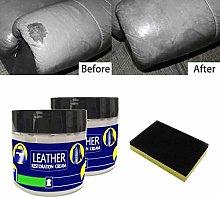 ppaphh 2PC Leather Repair Cream Filler Compound