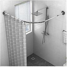 PPGE Home Shower Curtain Rail L Shaped for Bath,
