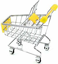 Pppby 1 Piece Mini Shopping Cart Pen Cup Holder