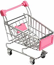 Pppby 1 Piece Mini Shopping Handcart Pen Cup