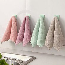 PPuujia Absorbent dish towel, lattice dish cloth,