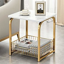 PQXOER Coffee Tables 2/3 Layers Nordic Square
