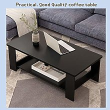 PQXOER Coffee Tables Double Layers Coffee Table