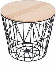 PQXOER Coffee Tables Iron Corner Table Leisure