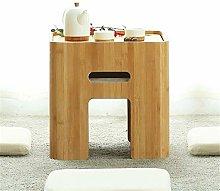 PQXOER Coffee Tables Modern Minimalist Bamboo