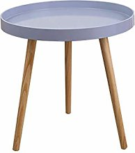 PQXOER Coffee Tables Round Side Table Tray Small