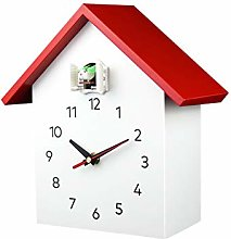 PQZATX Cuckoo Quartz Wall Clock Modern Bird