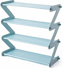 PQZATX Simple Stainless Steel Assembled Shoe Rack