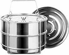 PQZATX Stackable Steamer Insert Pans Pot in Pot