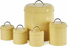 Practical and Stylish Yellow Canister Set - 5-Piece