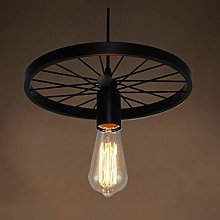 Practical Family Simplicity Iron Wheel Ceiling