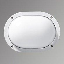 Practical outdoor wall lamp EKO white