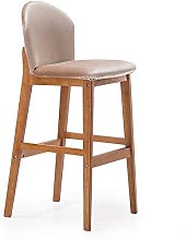 Practical Stool Dining Chair Solid Wood Bar Chair,