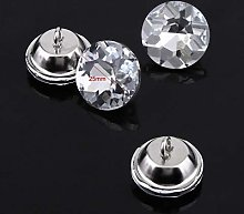 Practical Superb Crystal Buttons Clothes Accessory