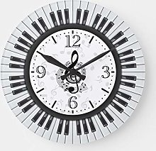 Practical Wood Clock Round for Bedroom, Home,