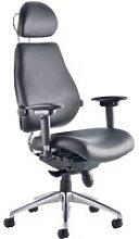Praktikos Ultimate Black Leather Ergonomic Chair