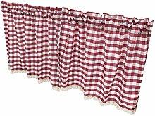 prasku Elegant Cafe Curtains Handmade Cotton Half