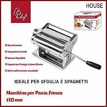 PRATIKO LIFE Fresh Pasta Machine, Steel, UNICA