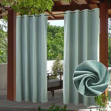 PRAVIVE Blackout Outdoor Curtain Drapes -