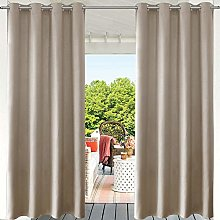 PRAVIVE Blackout Outdoor Curtain Panels -