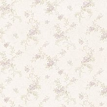 Pre-Pasted - Ivory, Purple & Green Textured Floral