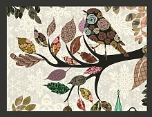 Precious Bird (Patchwork) 3.09m x 400cm Wallpaper