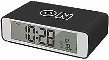 Precision Alarm Clock, Black, One Size