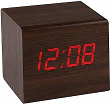 Precision Alarm Clock, Brown, One Size