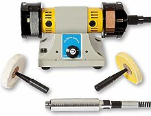 Precision Bench Grinder and Polisher with Flexi