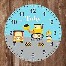 Precision Design Construction/Digger Kids Clock -