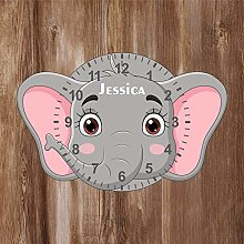 Precision Design Elephant Shaped Kids Clock -