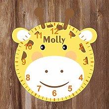 Precision Design Giraffe Shaped Kids Clock -