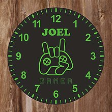 Precision Design Kids Room Green Gamer Clock -