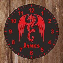 Precision Design Kids Room Red Dragon Clock -