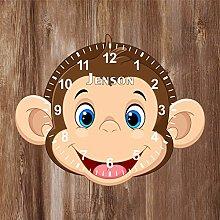 Precision Design Monkey Shaped Kids Clock -