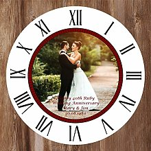Precision Design Photo Clock - 40th Ruby Wedding
