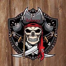 Precision Design Pirate Shaped Kids Clock -