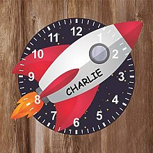 Precision Design Rocket Ship Shaped Kids Clock -
