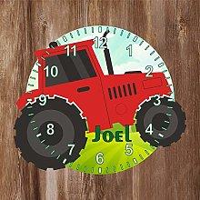 Precision Design Tractor Shaped Kids Clock -